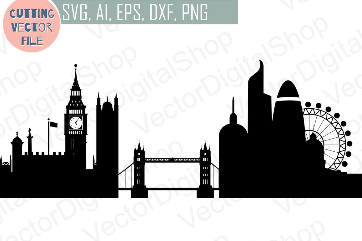 London Vector England Skyline Illustrations Creative