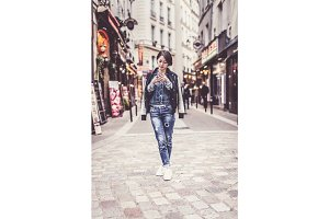 Young Chinese Woman Having Fun In Latin Quarter