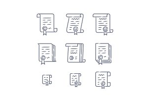 Contract linear icons