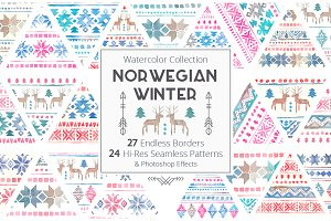 Norwegian Winter - Seamless Patterns