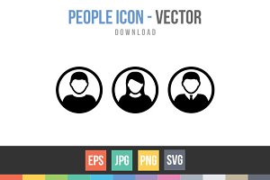 People Icon Male and Female Person