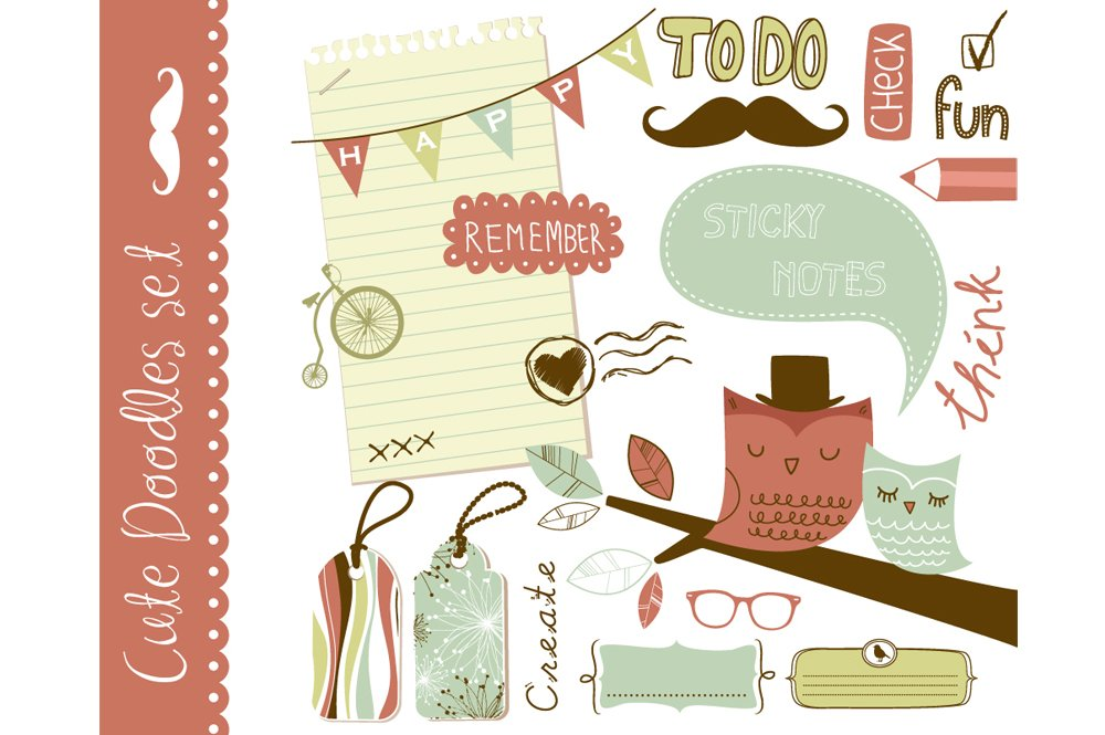 Cute clip art scrapbooking elements ~ Illustrations ...