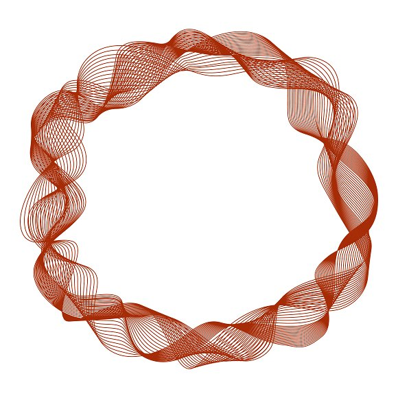 Abstract Frame With Motion Waves