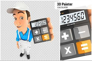 3D Painter Holding Calculator