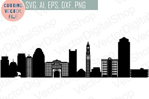 Boston vector MA USA skyline