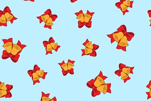 Seamless pattern jingle balls