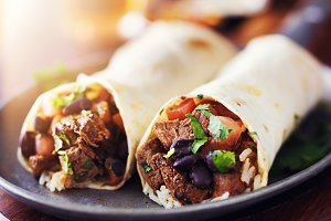 mexican beef steak burritos