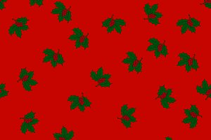 Seamless pattern with holly leaves