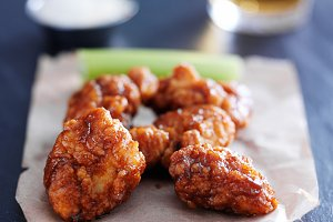 boneless barbecue chicken wings