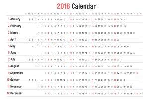 Calendar 2018 Landscape Design