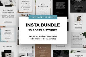 50 Posts & Stories PSD for Instagram