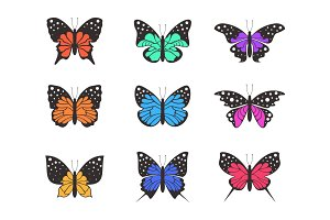 Icons of butterflies4