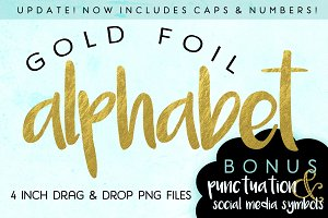 Gold Foil Alphabet Letters UPDATED