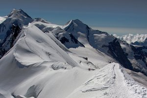 View from the top of Breithorn