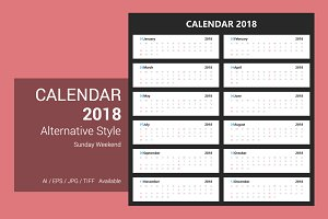 Calendar 2018 Alternative Design