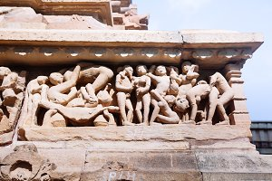 Erotic temple in Khajuraho
