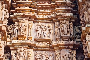 Erotic temple in Khajuraho