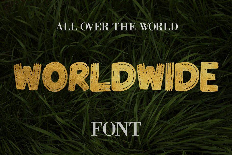 Worldwide Font - 50% Off