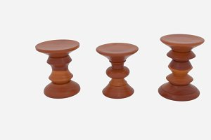 Eamesreg Walnut Stool