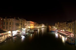 Canal Grande At Night