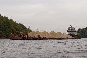 Barge full of gravel