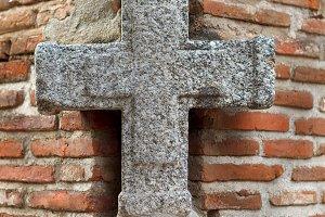 Grey stone cross