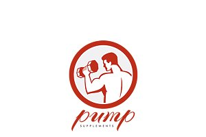Pump Fitness Supplement Logo