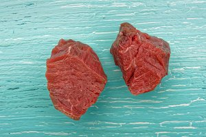 Two pieces of tenderloin steak