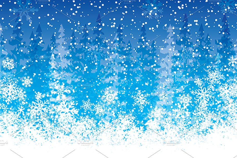 Blue Christmas background | Custom