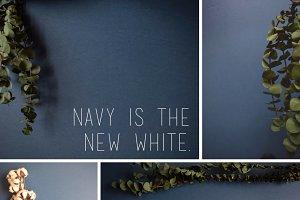 Navy Greenery Photo Bundle