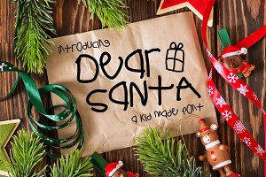 Dear Santa a Kid Made Font