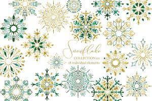 Snowflakes Clipart Collection 02