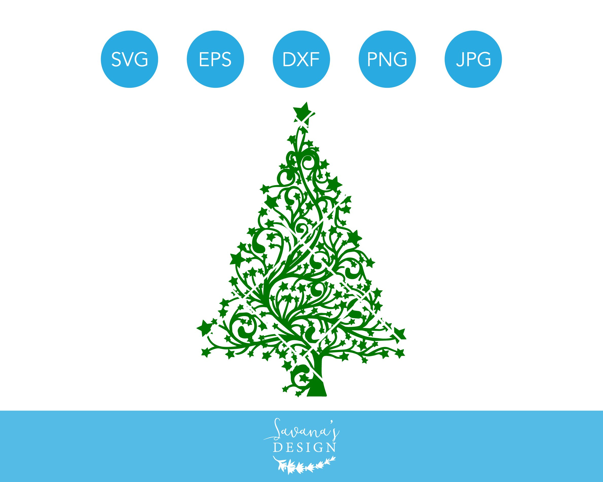 Download Christmas Tree SVG Cricut Silhouette ~ Illustrations ...