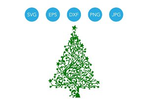 Christmas Tree SVG Cricut Silhouette