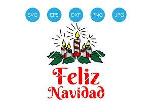 Feliz Navidad SVG Merry Christmas