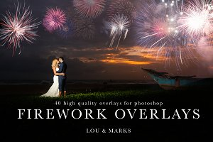 40 Firework Photoshop Overlays