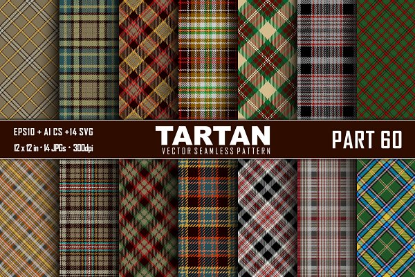 Seamless  Tartan Pattern Part - 60…