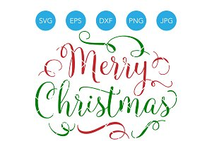 Merry Christmas SVG Vector Cut File