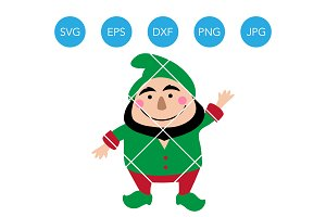 Santas Elf SVG EPS DXF PNG Clipart