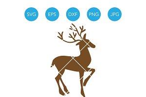Christmas Reindeer SVG Clipart Deer
