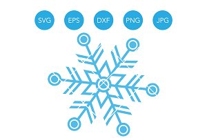 Snowflake Winter SVG EPS DXF Clipart