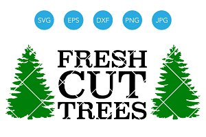 Fresh Cut Trees SVG EPS DXF Clipart
