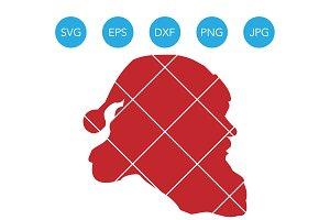 Santa Head SVG EPS DXF Clipart