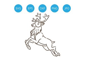 Reindeer Christmas SVG Cut File