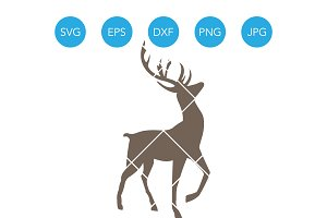Reindeer SVG Cutting File for Cricut