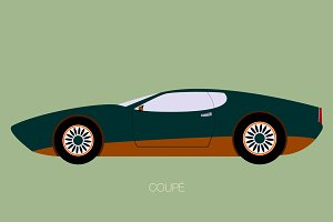 coupe classic car illustration