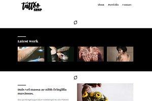 Tattoo Shop - Minimal HTML5 Theme