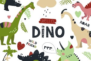 Seamless DINO patterns and posters