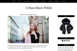 Urban Black White Wordpress Theme
