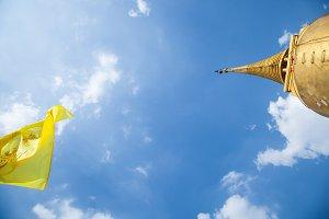 Flag and stupa